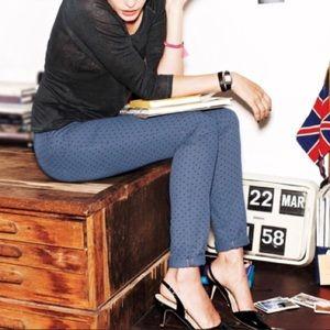 Boden blue polka dot skinny jeans